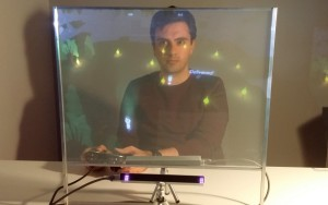 Keyewai: Looking at Cooperation in a Holographic Projection Screen